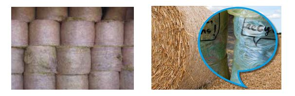 Examples of bale twine and net wrapping