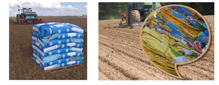 Examples of seed and grain bags